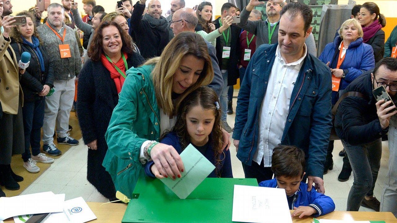Los candidatos andaluces votan y hacen un llamamiento a una participación «masiva»