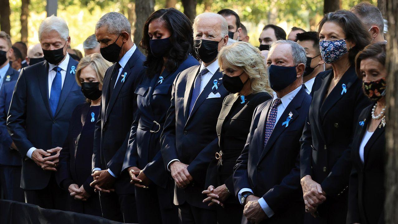 os Clinton, los Obama y el exalcalde Bloomberg estuvieron con los Biden en Nueva York.