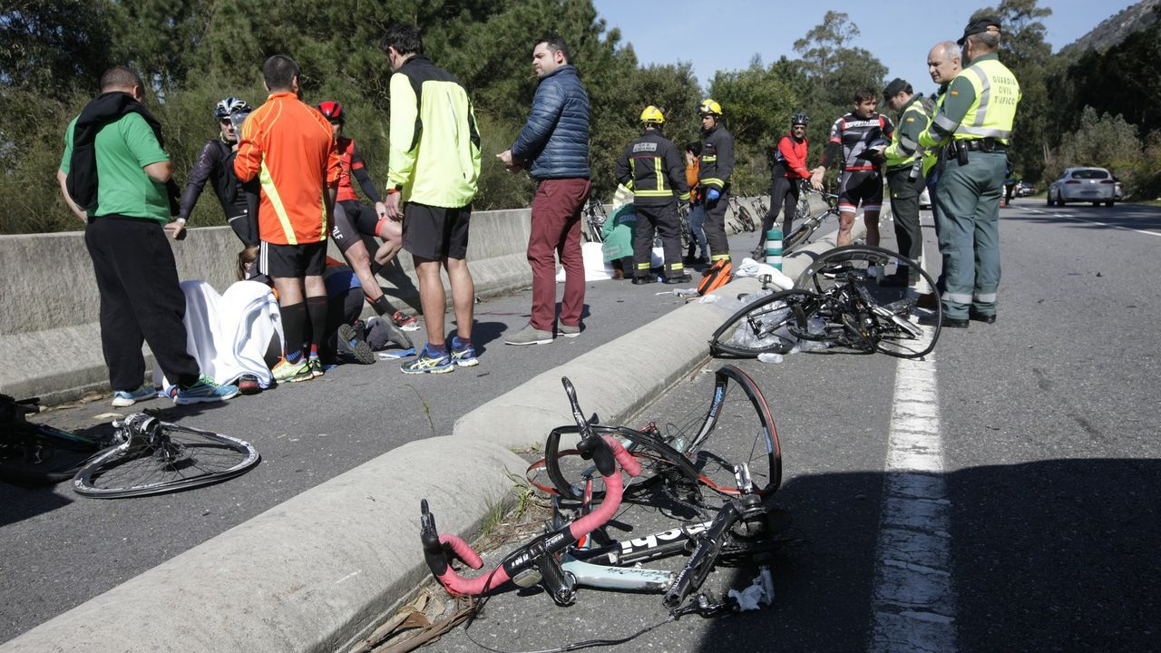 El accidente del 2016 en la carretera de Baiona a A Guarda