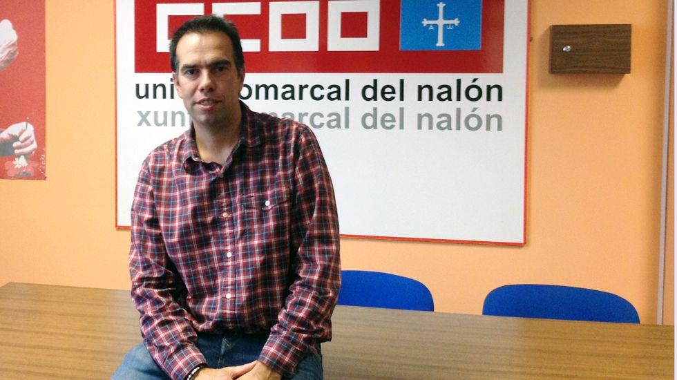 José Manuel Zapico, secretario general de Comisiones Obreras del Nalón.José Manuel Zapico, secretario general de Comisiones Obreras del Nalón