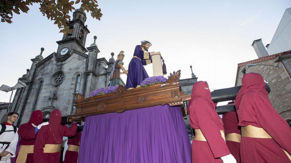 Procesión de Jueves Santo en Fisterra