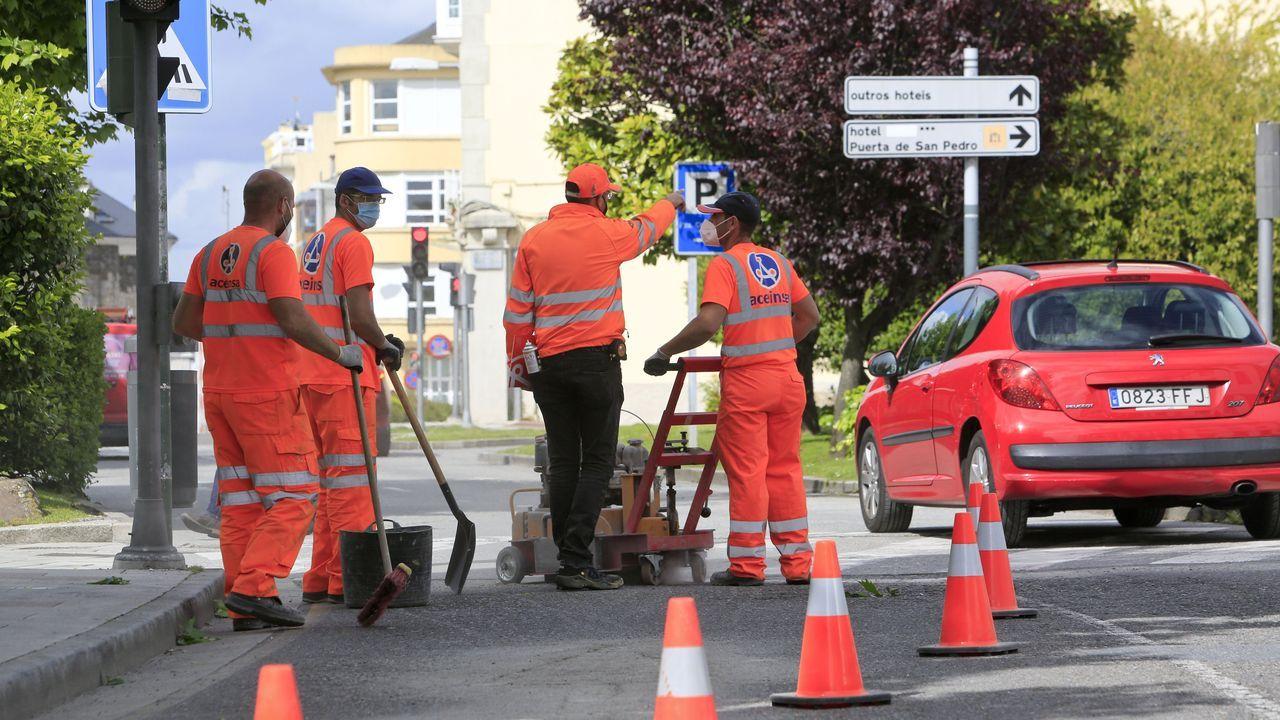 Se inician los preparativos para cerrar al tráfico la Ronda por A Mosqueira
