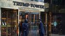 Entrada de la Torre Trump, en Nueva York