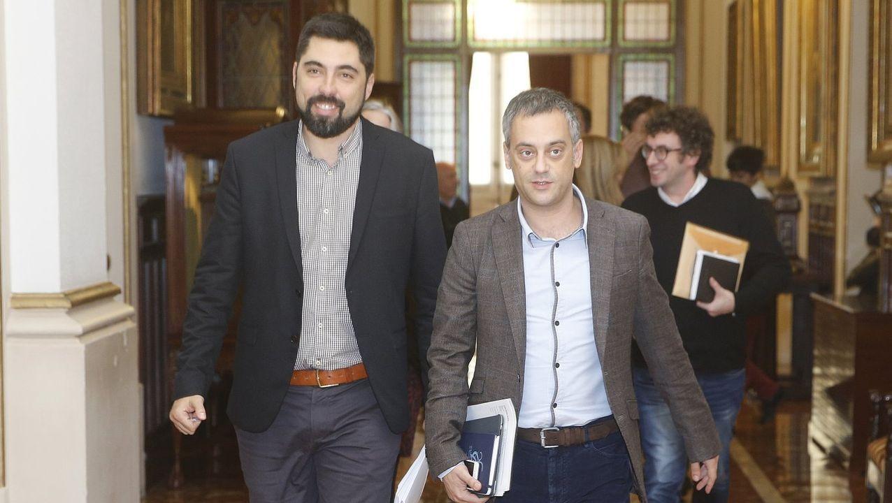 Xiao Varela y Xulio Ferreiro,en una imagen de noviembre del 2018