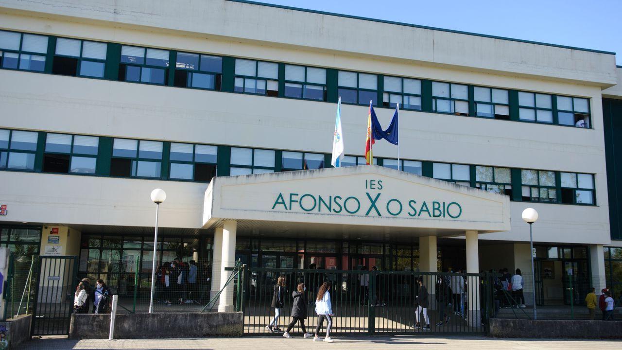 El IES Afonso X O Sabio, de Cambre, el centro con más casos de la comunidad actualmente, un total de diez