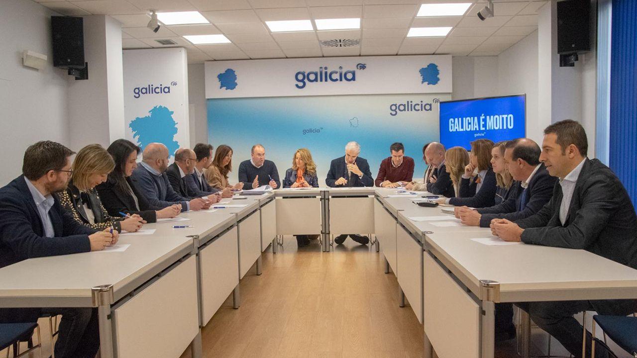 Reunión entre el PP de Galicia y Asturias