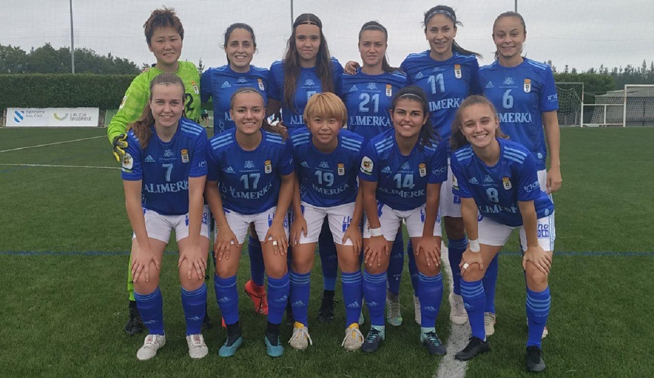 Friol Real Oviedo Femenino.Alineación azul frente al Friol