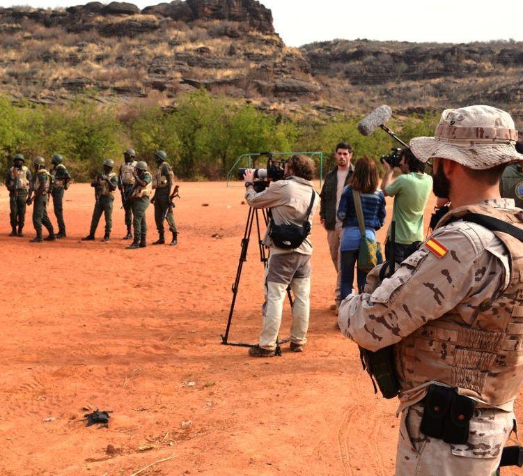 Un momento del rodaje del documental en Mali.