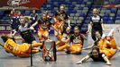 Las jugadoras del Burela celebran el título copero que alcanzaron hace unas semanas en Málaga