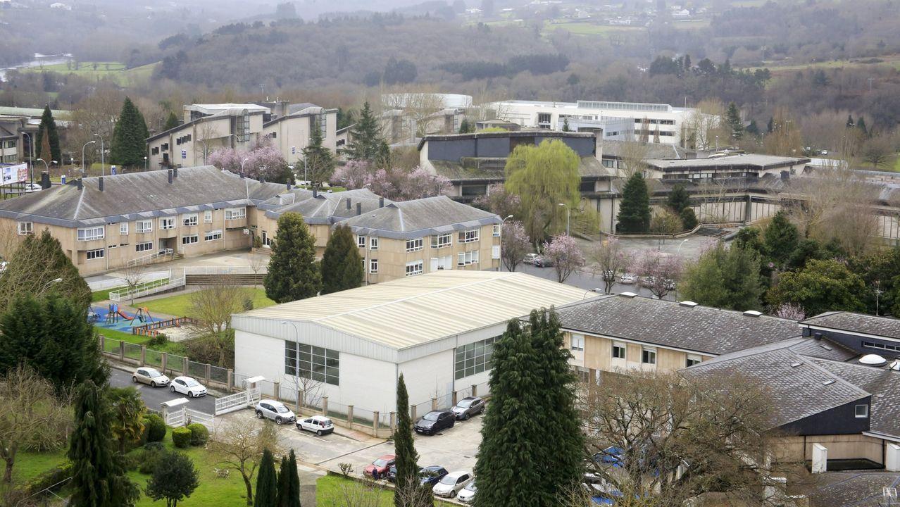 Vista de facultades del campus lucense