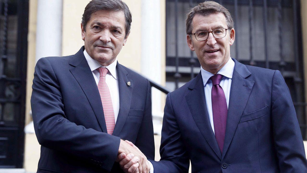 Núñez Feijoo y Javier Fernández apuestan por trabajar juntos por los trabajadores de Alcoa