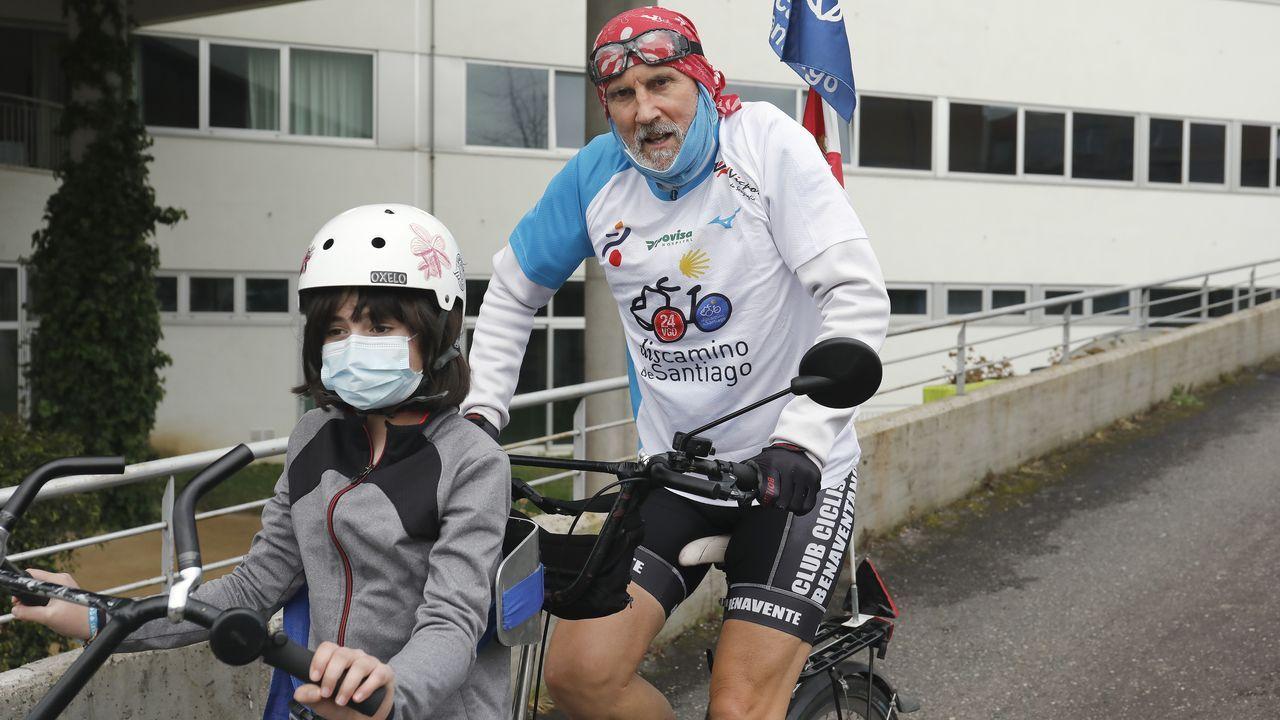 Los ciclistas harán el recorrido que muestra el mapa, de unos seis kilómetros de longitud, por el casco urbano de Monforte