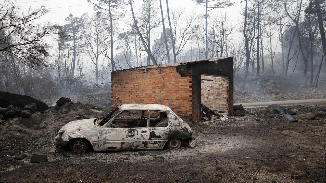 Incendio forestal en Moces