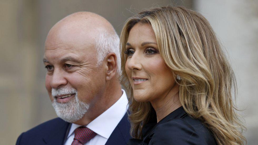 Celine Dion y su marido, Rene Angeli, en una imagen de archivo