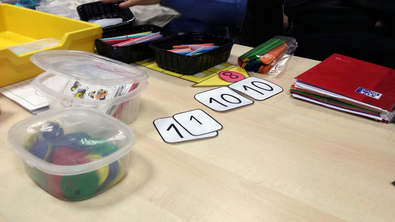 Material para las clases de Matemáticas en Infantil, en el colegio público de Lugo de Llanera