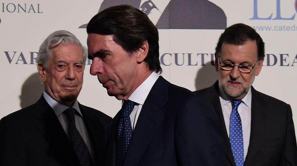 Rajoy y Aznar se ignoran.Vargas Llosa, accionista de una sociedad en las Islas Vírgenes Británicas