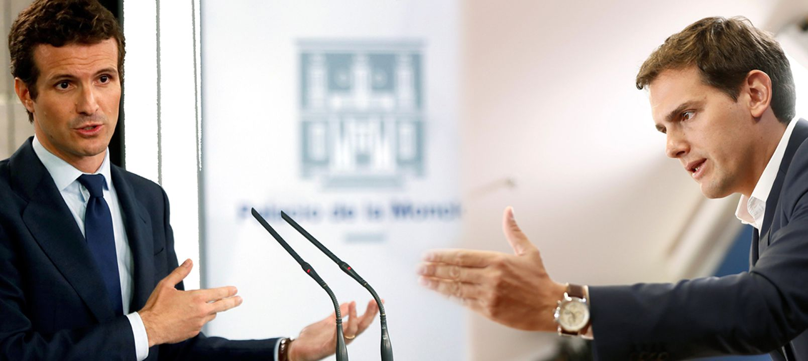 El presidente del PP, Pablo Casado, en una entrevista con la agencia Efe
