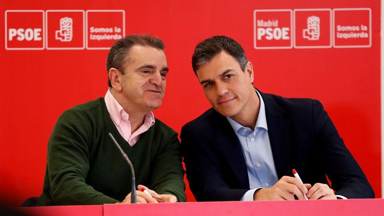 José Manuel Franco junto a Pedro Sánchez, en una imagen de archivo