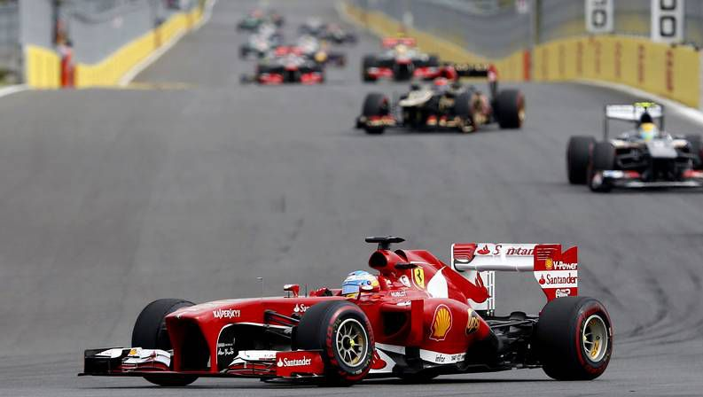El Gran Premio de Corea, en fotos.Alonso y su novia, en un Ferrari