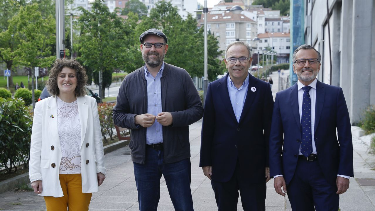 Así fue el debate entre los candidatos al Concello de Santiago.El presidente de la Diputación de Ourense, Jose Manuel Baltar