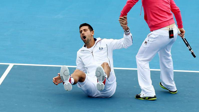 Djokovic bromea con Clijsters