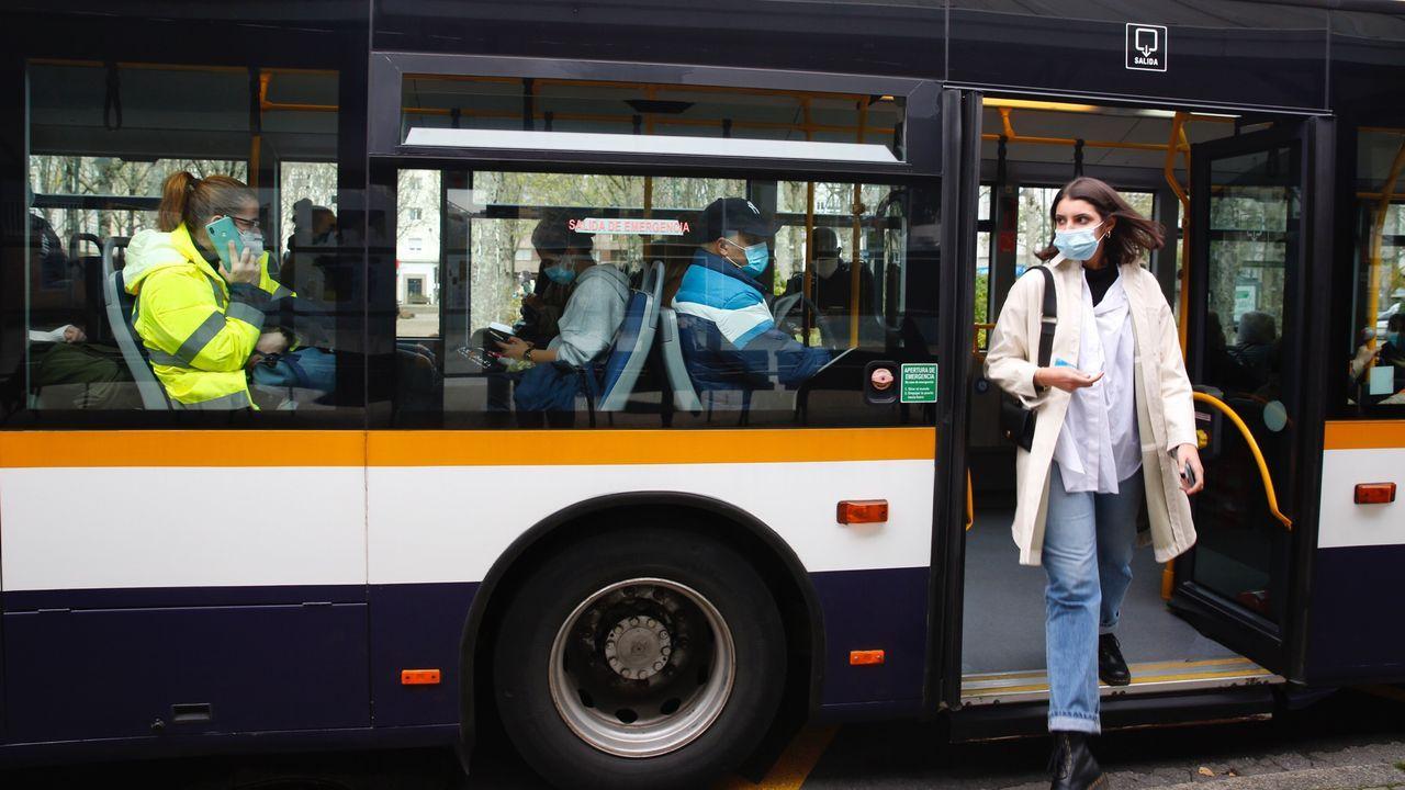 Parada de autobús en Pontevedra