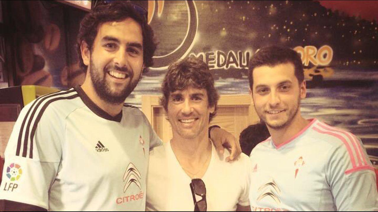 Jaime Rey, con Mario Bermejo y otro aficionado