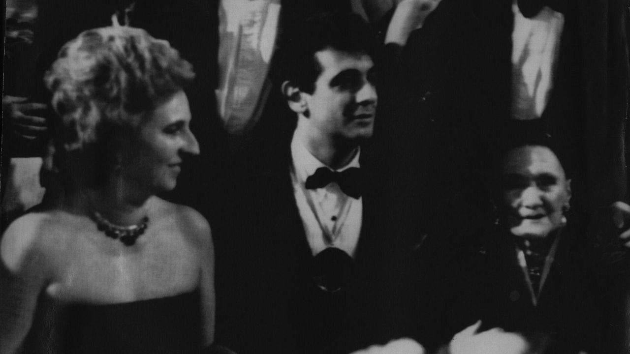 Pilar de Borbón con Plácido Domingo en 1981