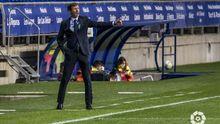 José Ángel Ziganda, durante el Oviedo-Leganés