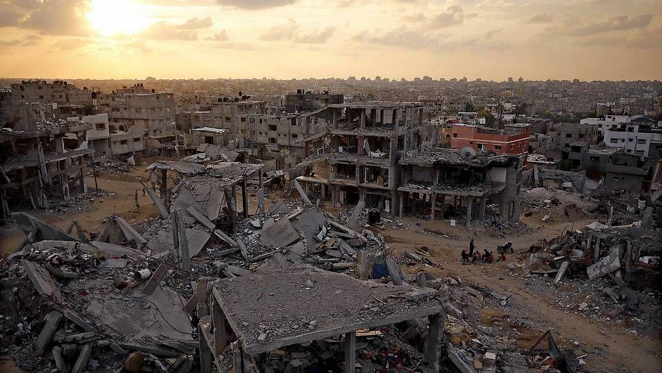 Paisaje de la destrución en Gaza