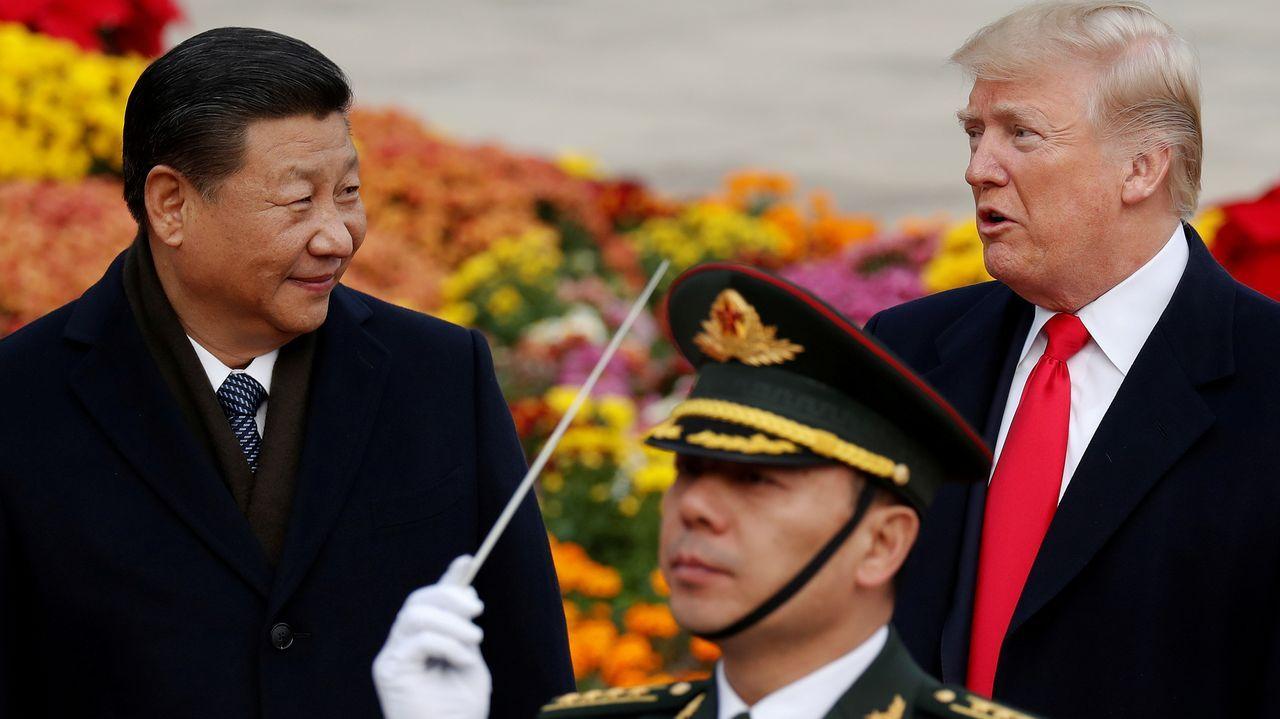 El presidente de EE.UU., Donald Trump, y el presidente de China, Xi Jinping, en una imagen de archivo del 2017
