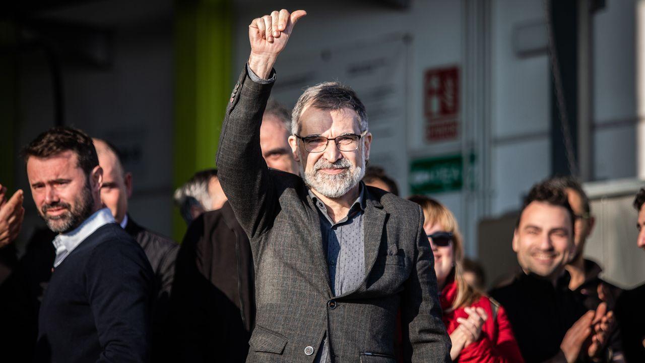| EFE.Jordi Cuixart, presidente de Òmnium Cultural, ya puede salir de prisión para acudir a su puesto de trabajo
