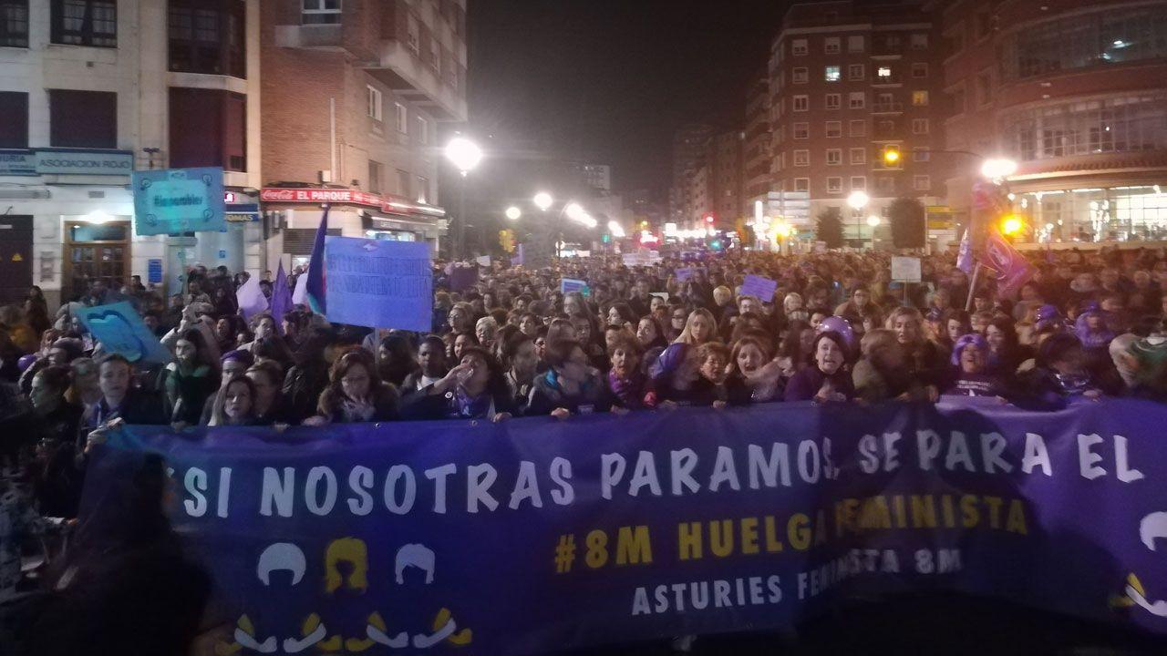 Todas las imagenes de la manifestación del 8-M en Gijón