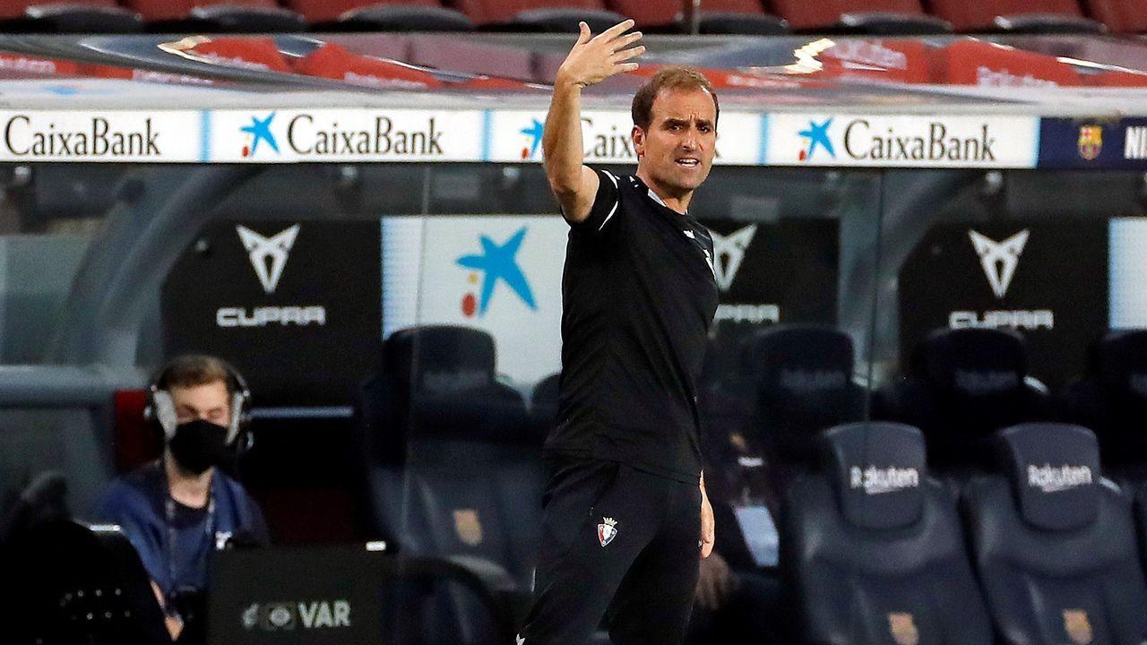 Galicia busca protagonismo en la Liga.El positivo de Arrasate, entrenador de Osasuna, también ha sido confirmado.