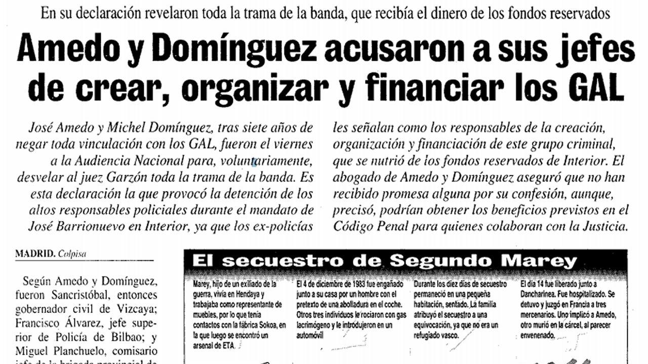 Así contó La Voz la información sobre el primer secuestro de los GAL