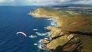 Vista aérea de la costa de Narón y Valdoviño, en una imagen cedida por el Club Parapente Ferrol