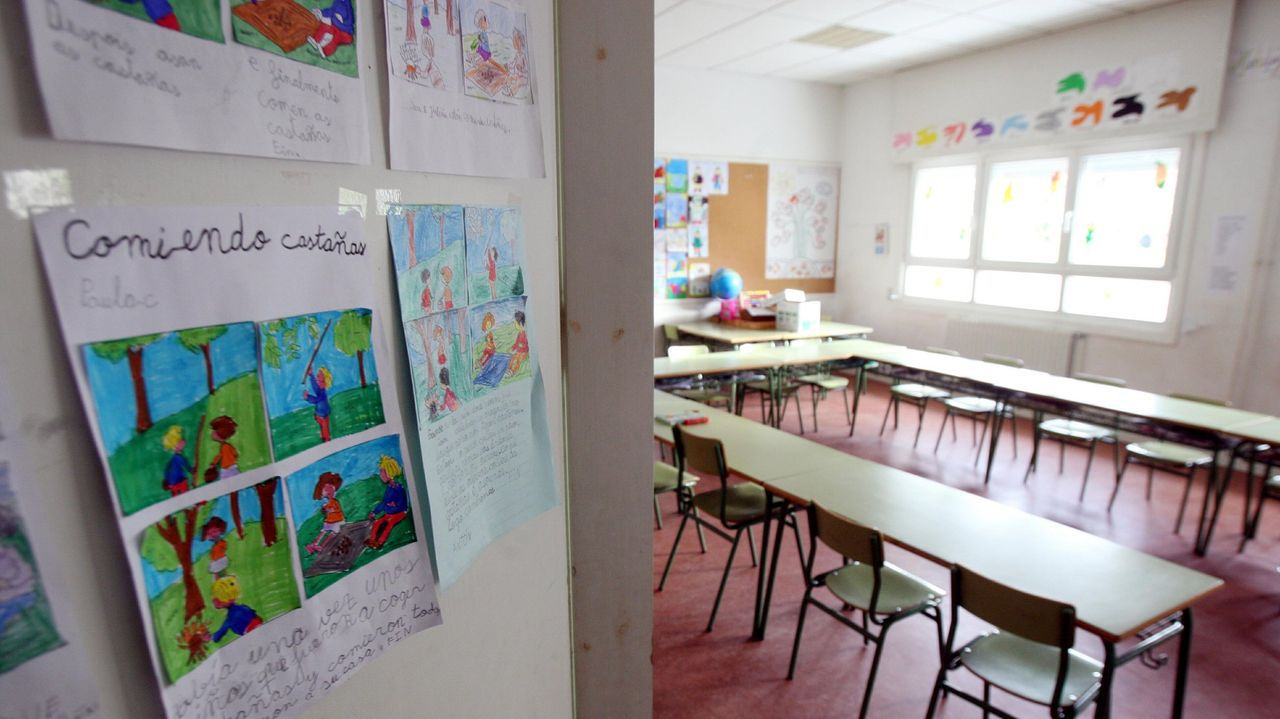 Instalada unha exposición sobre Carvalho Calero en Carballo: as imaxes.A declaración reclama unha presenza reforzada na escola das linguas cooficiais