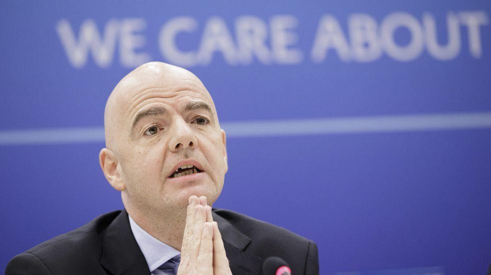 El secretario general de la UEFA, Gianni Infantino