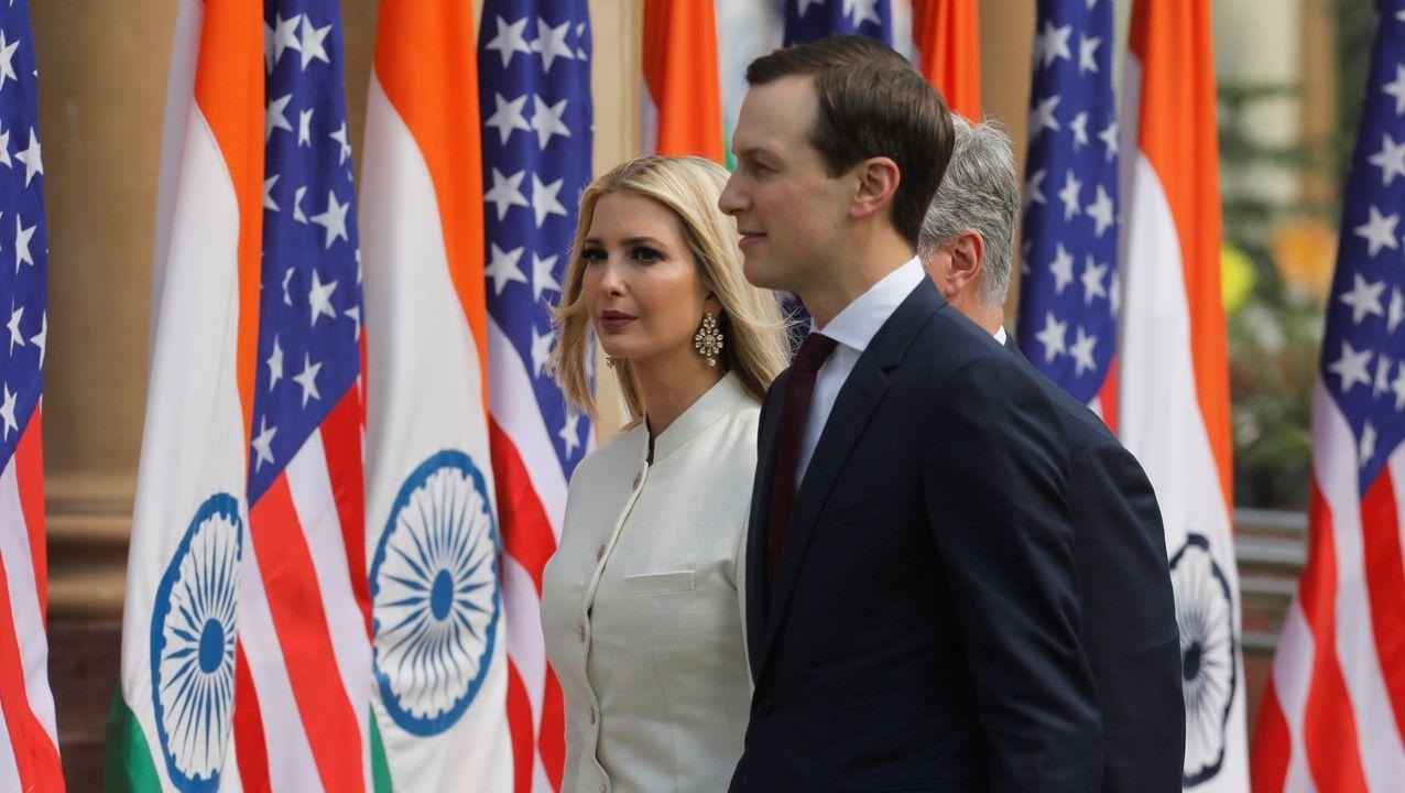 Ivanka Trump y Jared Kushner, en un viaje a la India