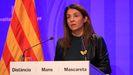La consejera de Presidencia y portavoz del Gobierno catalán, Meritxell Budó