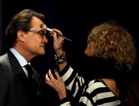 Artur Mas, en TV3 antes del debate electoral de los últimos comicios catalanes.