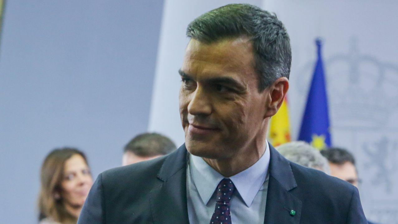 Todas las imágenes de la comparecencia de Pedro Sánchez y Pablo Iglesias.El alcalde de león, José Antonio Díez