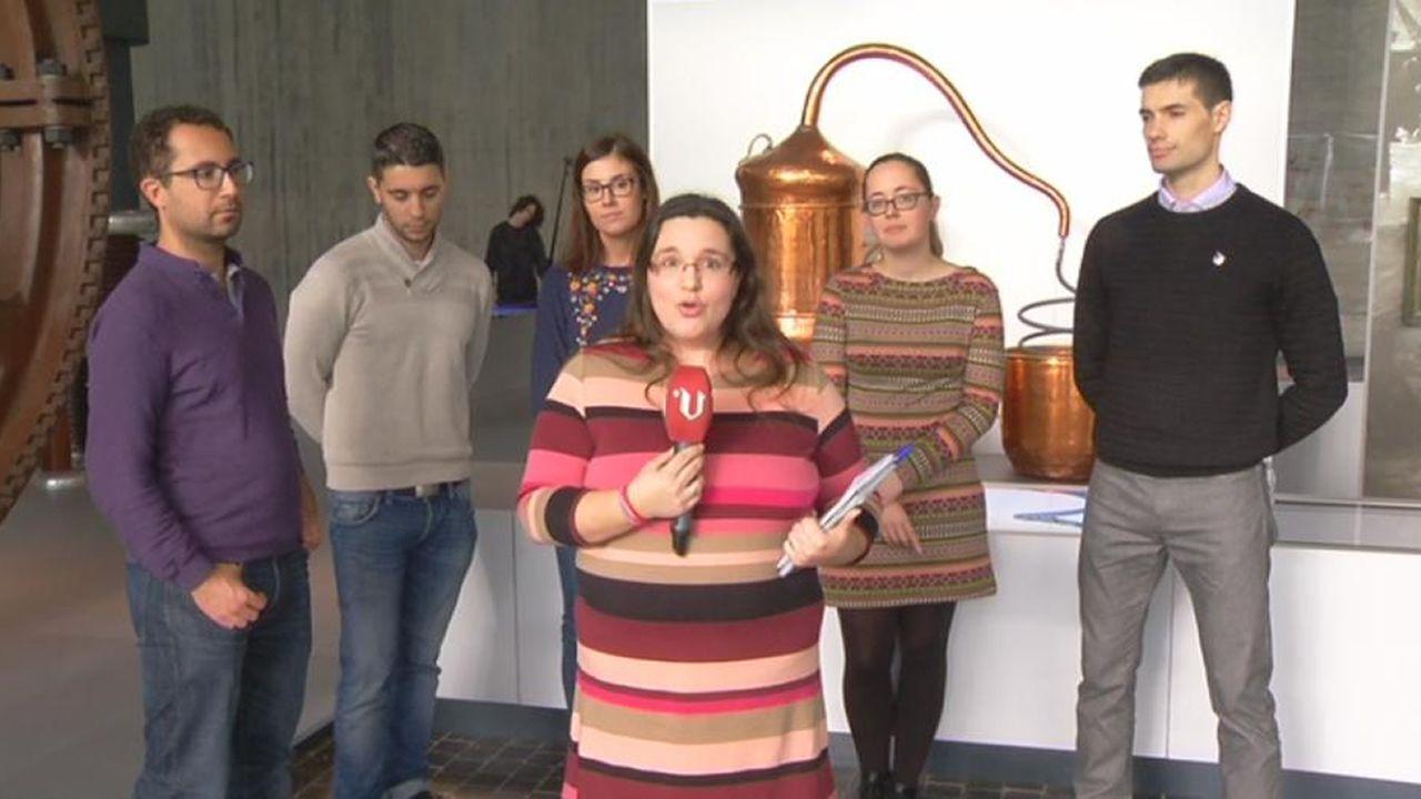 Un vino para cada ocasión.Miguel Ezquerro, Conchi Prego, Antonio Gómez, Fernando Rodríguez, Rogelio Ramos y Juan Devesa
