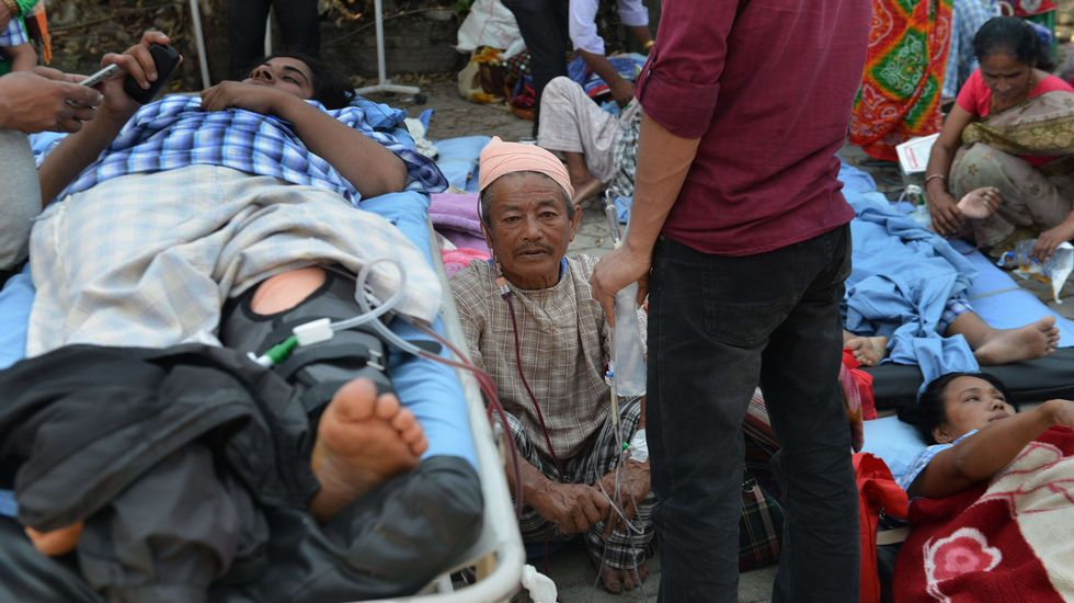 Enfermos desalojados de un hospital