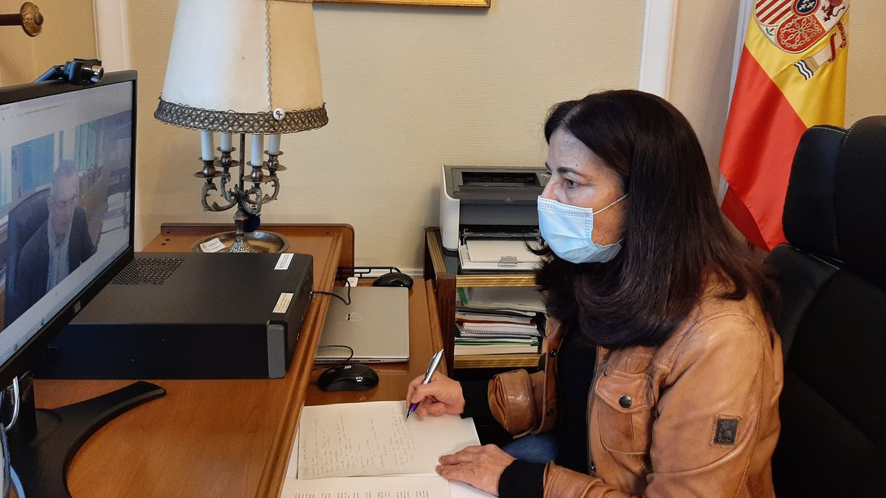 Isabel Rodríguez conversa por videconferencia con Fernando Otero