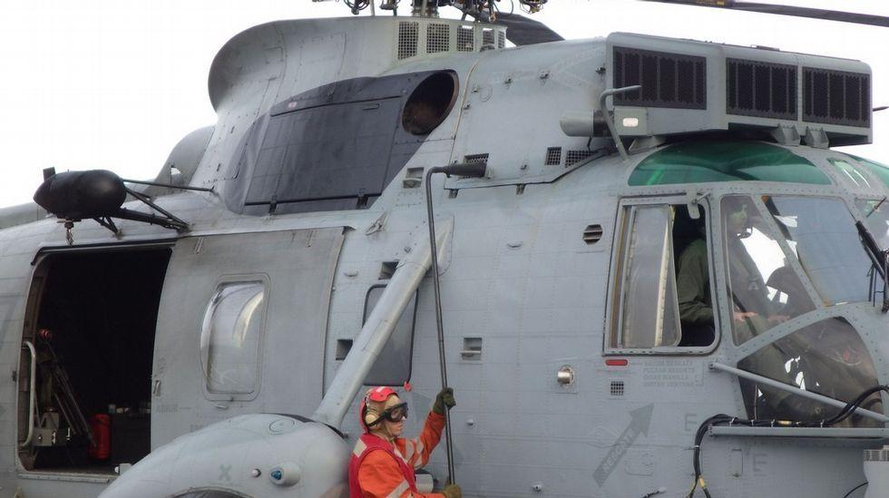 El helicóptero embarcado en el Patiño