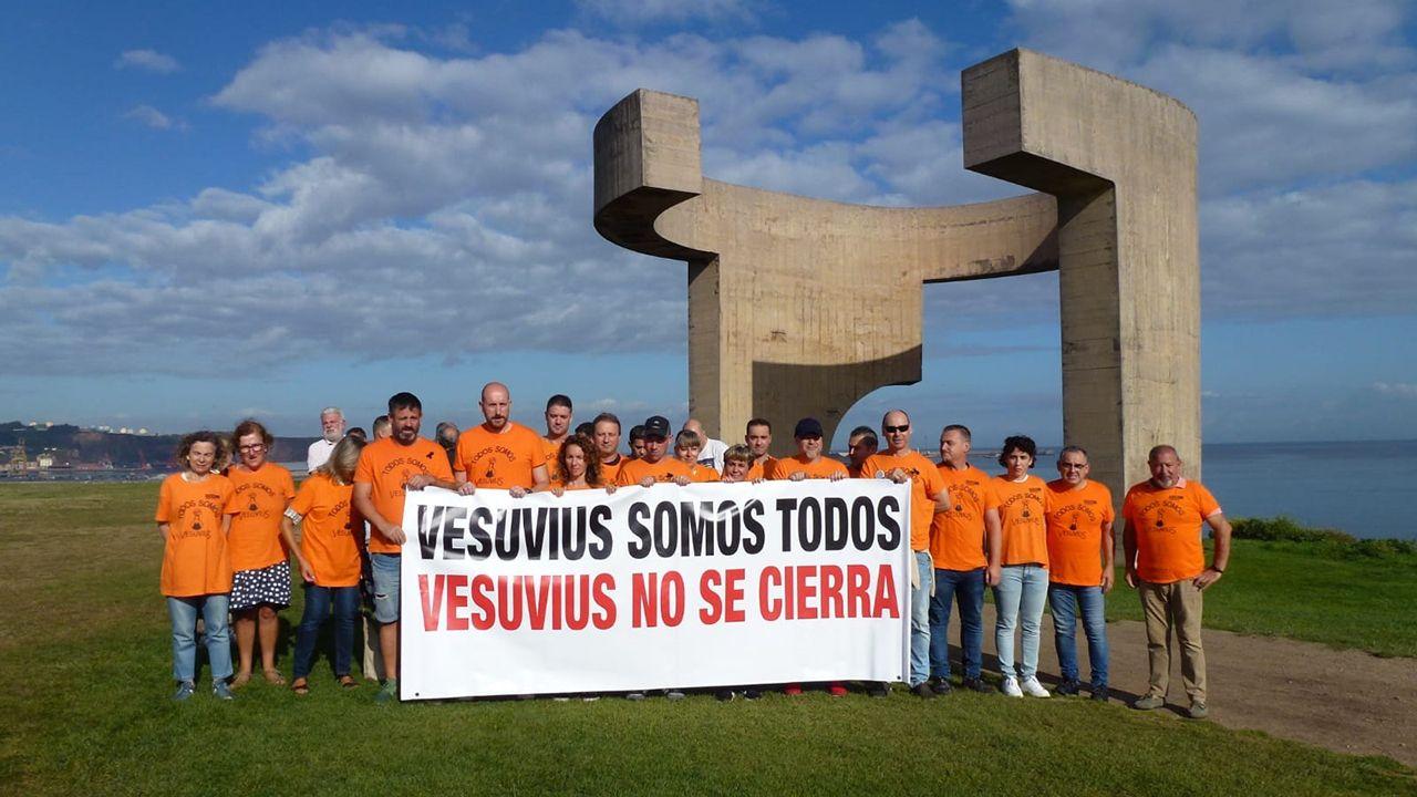 Las protestas de los trabajadores de Vesuvius se extienden por Asturias.Dolores Carcedo