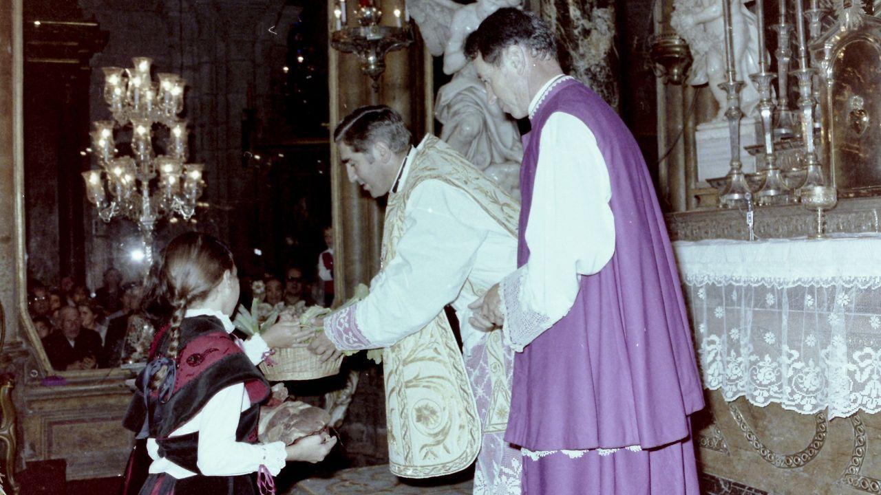 Fray José Gómez, en la misa del día de San Froilán en la catedral en 1980