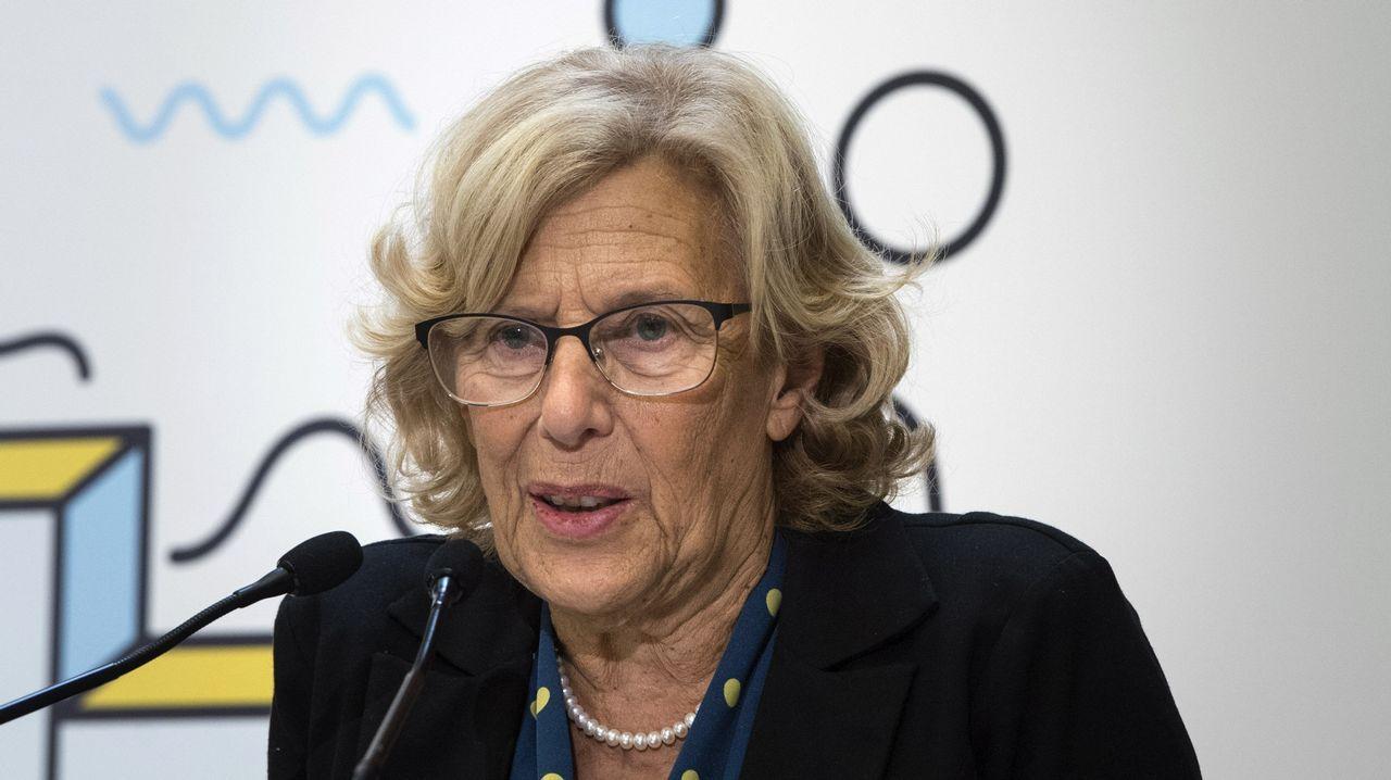 El 39 aniversario de la Constitución española.Manuela Carmena hablando con Rita Maestre