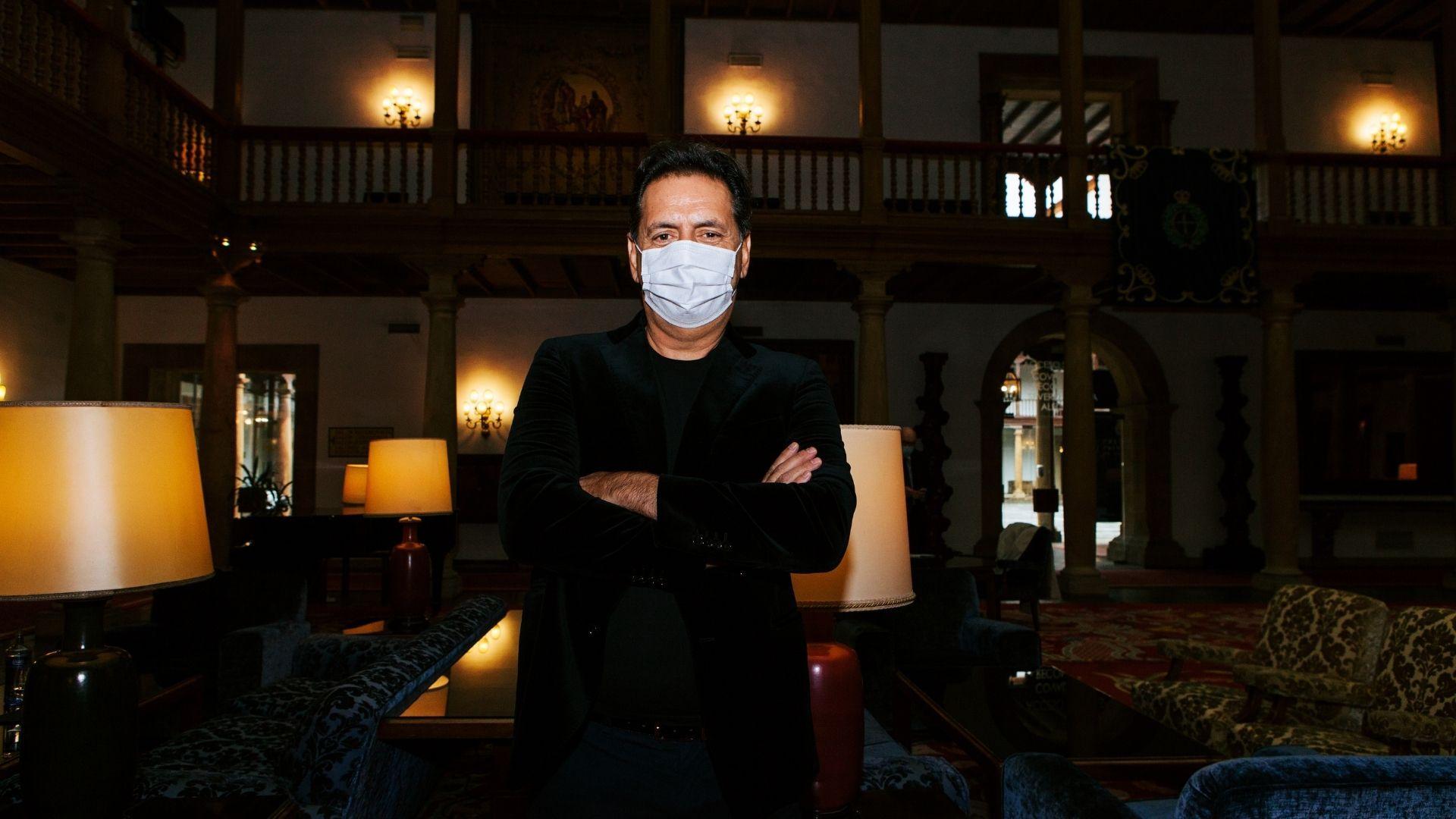Andrea Morricone, en el hall del hotel de la Reconquista